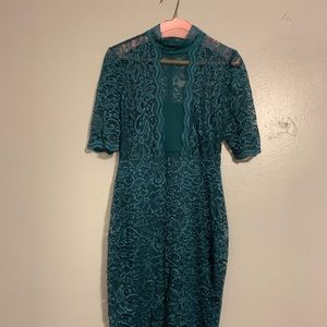 EXPRESS Green lace dress!!